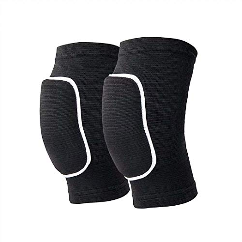 Non-Slip Knee Brace Soft Knee Pads Breathable Knee Compression Sleeve for Dance Wrestling Volleyball Basketball Running Football Jogging Cycling Arthritis Relief Meniscus Tear for Women Men Black(L)