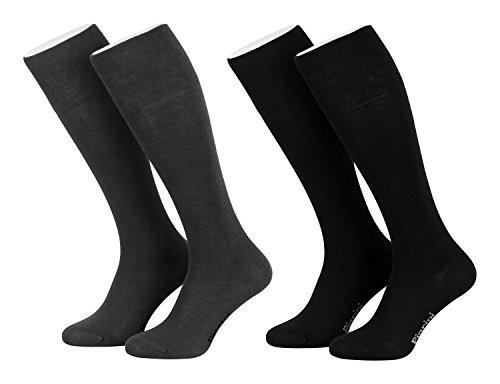 Piarini - 4 paia di calze lunghe da donna - nero-antracite - 35-38