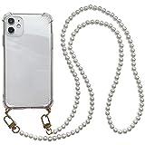 パールストラップ付きクリアiPhoneケース (iPhone12mini)