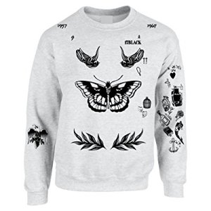 Allntrends Adult Sweatshirt Harry Tattoos Cool Top Trendy Gift Cute