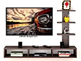 Shah Emporium's Wooden TV Entertainment Unit/Wall Set Top Box Shelf Stand/TV Cabinet for Wall/Set Top Box Holder for Home/TV Stand Unit for Wall for Living Room (Wenge, Large)
