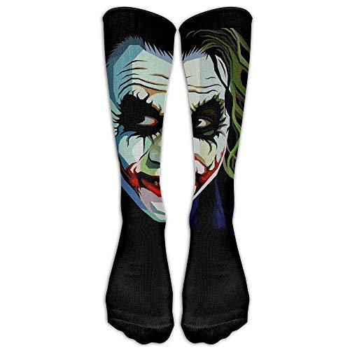 wwoman Unisex The Joker DeviantArt Calze a tubo fredde Big Face Knee High Sports