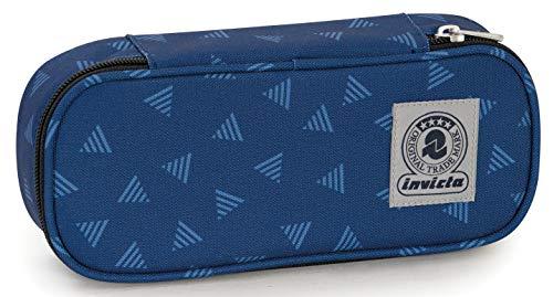 Bustina Round Plus Invicta Triangle, Blu, Scomparto attrezzato porta penne