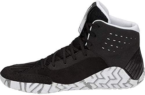 ASICS Men's Aggressor 4 Wrestling Shoes, 5M, Black/Black
