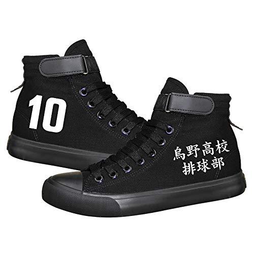 Nyrgyn Zapatillas Deportivas con Estampado de Anime Haikyuu Zapatos Informales de Lona con Dibujos Animados, para Adolescentes y Niños,37 EU