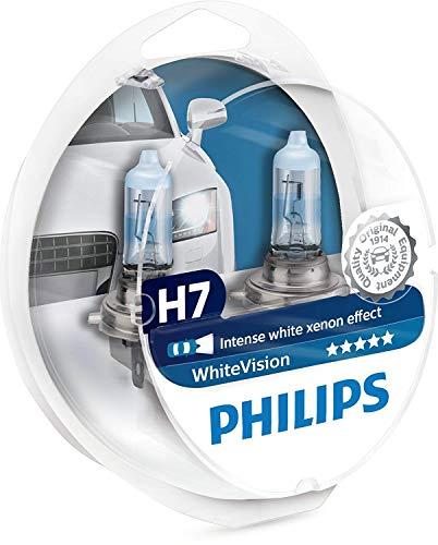 Philips 12972WHVSM WhiteVision Effetto Xenon H7 Lampada Fari, Confezione Doppia