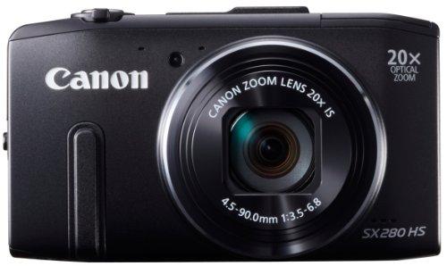 Canon デジタルカメラ Power Shot SX280HS  約1210万画素 光学20倍ズーム ブラック PSSX280HS