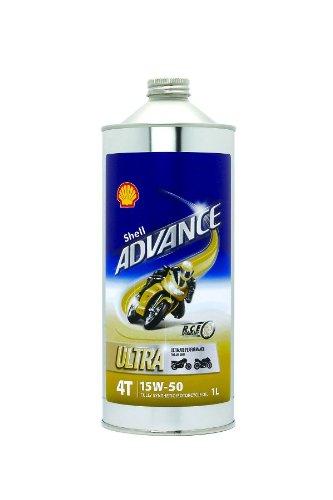 SHELL ADVANCE(シェルアドバンス)100%化学合成油 4ストロークエンジンオイル 4T Ultra(ウルトラ) SAE:15W-50 SM/MA2 1L 412207193-1HTRC3
