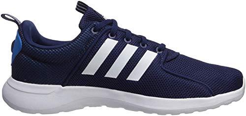 adidas Men's Cloudfoam Lite Racer Running Shoe, Dark Blue/White/Bright Blue, 10.5 M US