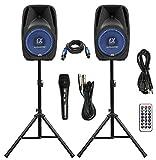Pair Alphasonik All-in-one 10' Powered 1000W PRO DJ Amplified Loud Speakers...