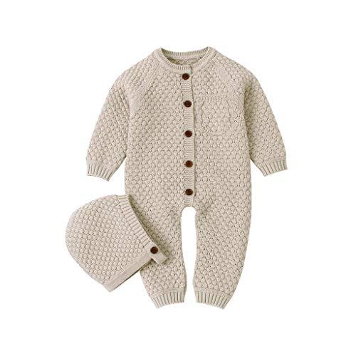 Cable Knit Sweater Romper Baby Girl Boy Onesie Romper Jumpsuit Newborn Infant Winter Thick Warm Snowsuit Bodysuit
