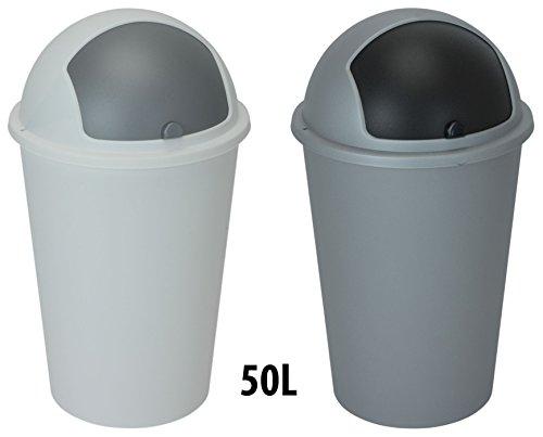Spetebo XXL Abfalleimer Push 50 Liter in 2 Farben