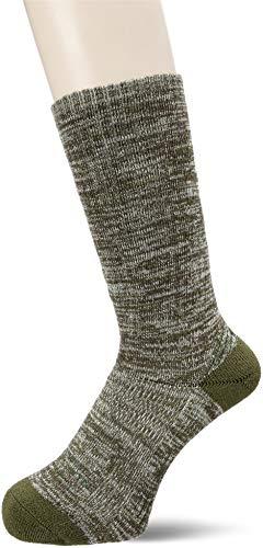 [ザノースフェイス] 靴下 トレッキング ミッドウエイト クルー ユニセックス ダークオリーブ×モスグリーン 日本 M (日本サイズM相当)