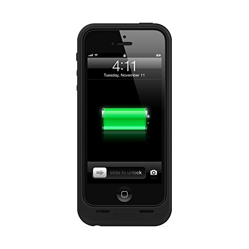 mophie Juice Pack Air Protective Case for iPhone 5, 5S and 5SE, Black