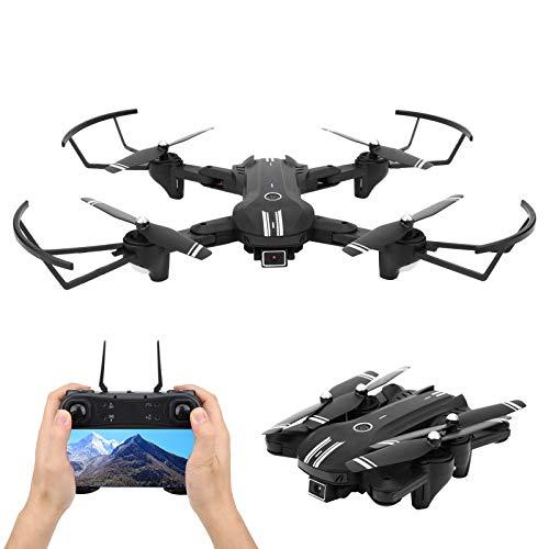 VGEBY Drone con Fotocamera, Mini quadricottero Drone Pieghevole H168 con Fotocamera 4K a Doppia Lente WiFi a 4 canali Giroscopio a 6 Assi 13 Minuti di Volo