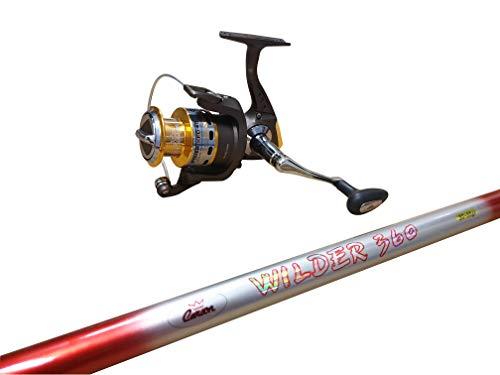 Carson - Kit Canna da Pesca da Fondo Wilder, Lunghezza Filo 3.60 o 4.00 Metri, Mulinello FOXXER 40 e Filo Compreso, Impugnatura Antiscivolo e Anelli in Alconite