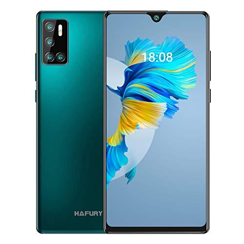 Günstiges Smartphone ohne vertrag, 128GB Speicher (256GB erweiterbar),6.2 Zoll Bildschirm, Android 10 Handy mit AI Quad Kamera, 4200mAh großer Akuu, HAFURY G20 Deutsch Version (Grün)