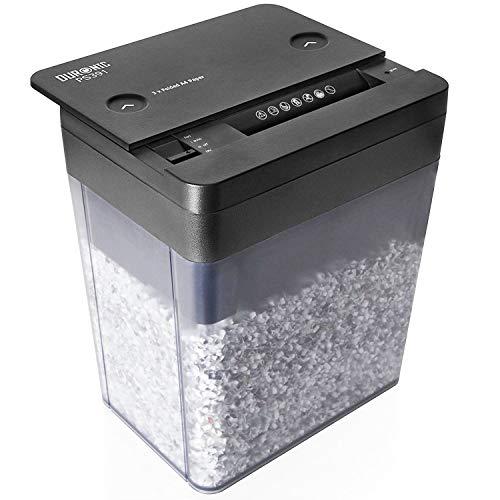 Duronic PS391 Distruggidocumenti 3 fogli taglio a micro frammenti 3x9mm capacità 5L Livello di sicurezza P-5 per casa ufficio