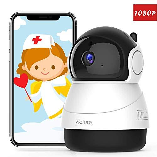 [Forza Italia] Victure FHD 1080P Telecamera di Sorveglianza WiFi,videocamera IP Interno Wireless con Visione Notturna, Audio Bidirezionale