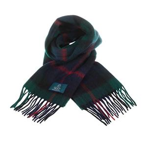 Clans Of Scotland Pure New Wool Scottish Tartan Scarf