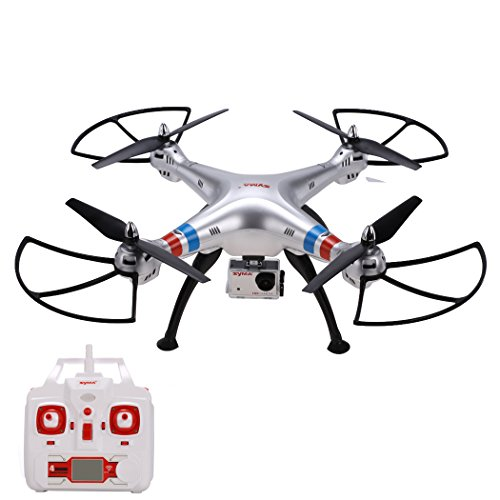 Arshiner Syma X8G RC Drone Quadcopter RTF 4 CH 6 assi Gyro, 2.4 GHz Headless Modalit con FPV 8 MP Videocamera HD da 1080p