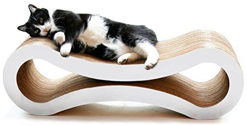 PetFusion Ultimate Cat Kratzbaum Lounge, groß, Cloud weiß