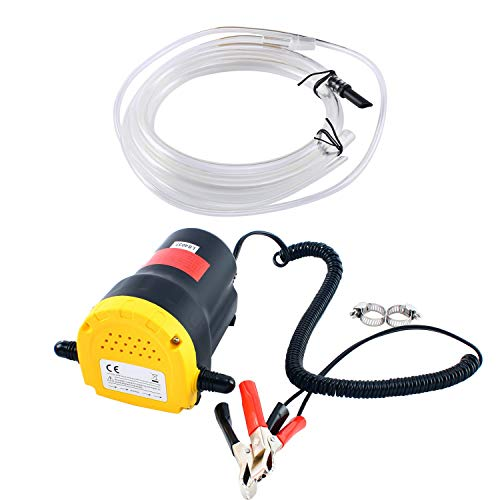 DasMarine 12V 60W Oil Change Pump Extractor, Oil/Diesel Fluid Pump...