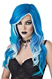 California Costumes Women's One Size Fatal Beauty Wig, Blue/White