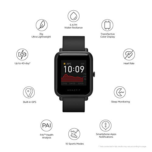 Amazfit Bip S Fitness Smartwatch, 40 Day Battery Life, 10 Sports Modes, Heart Rate, 1.28'' Always-On Display, Water Resistant, Built-in GPS, Warm Pink (W1821US3N)