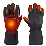 Electric Battery Heated Gloves for Women Men,Touchscreen, Black, Size Large
