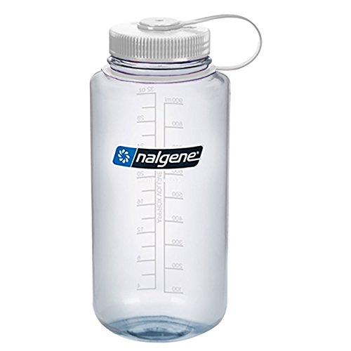 Nalgene Wide Mouth Bottle - 32 oz., Clear w/ White Cap