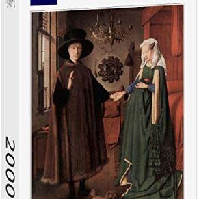Lais Puzzle Jan Van Eyck - Boda de Arnolfini, Foto de Boda de Giovanni Arnolfini y Giovanna Cenami 2000 Piezas