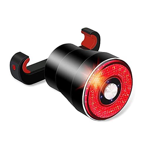 テールライト 自転車 LAOPAO スマートブレーキ警告 自動点滅 振動・光センサー IPX65防水 usb充電式 リアラ...