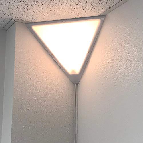 Beacon Triangle Corner Light, Plug-in 17' Cord, White Installs in...