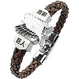 CeFoney Bracelet « Attack on Titan » - Bracelet punk avec ailes de la liberté - Cadeau...
