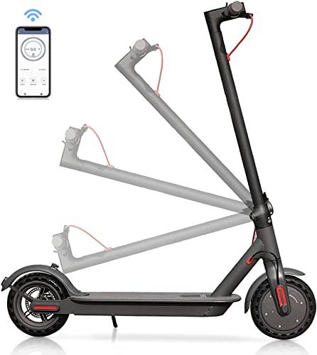 Skran Scooter eléctrico para adultos de 350W, 30KM/H, velocidad máxima rápida, conexión de teléfono inteligente,batería de larga duración de 10,4Ah, para adultos y adolescentes,35km de largo alcance.