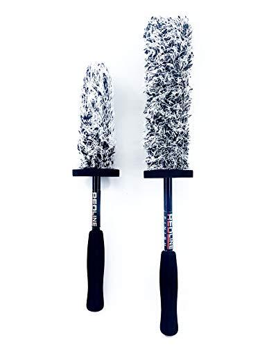 Redline Finish - The Duo Ultimate Microfiber Wheel Brush Set - Premium 17 inch & 13 inch Wheel Brushes