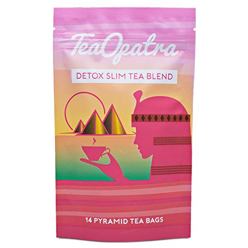 TeaOpatra Tummy Slimming Detox Tea: 14 Day Detox Cleanse for Weight Loss and Belly Fat - Zero Calorie Diet Tea for Fast, Skinny Results - Natural Cleansing Herbal Blend for Women - 14 Pyramid Tea Bags 2