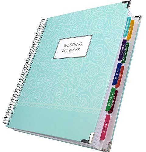 Wedding Planner 9x11 Hardcover Organizer, Bookmark, Planning...