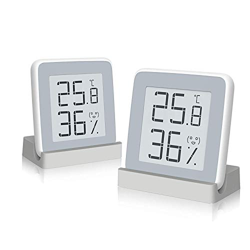 Homidy 温度計 デジタル湿度計 室内 高精度±0.3℃ E-Ink大画面 見やすい 顔文字でお知らせ 置き・掛け・貼り...