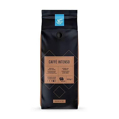 "Amazon-Marke: Happy Belly Röstkaffee, ganze Bohnen \""Caffè Intenso\"" (2 x 500g)"