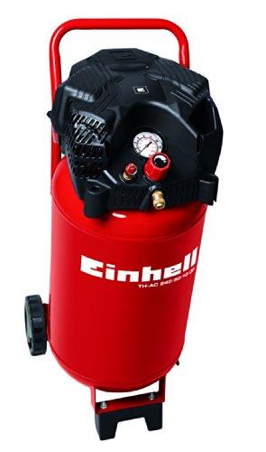 Einhell Compresseur TH-AC 240/50/10 OF (Puissance moteur 1500 W, Capacité de la cuve : 50 L, Guidon et grandes roues, Pied amortisseur de vibrations)