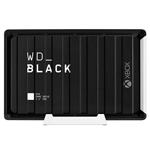 WD_BLACK D10 Game Drive for Xbox One 12 TB, HDD desktop da 7200RPM con raffreddamento attivo, per...