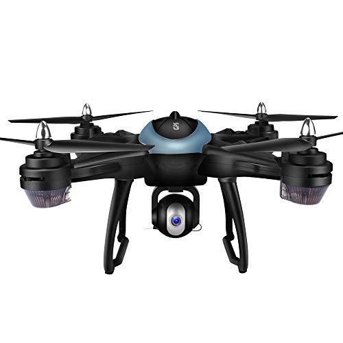 Yesmile Drone Quadcopter GPS Telecamera 1080P HD Drone Professionale GPS con Grandangolare Regolabile Camera HD WiFi FPV Quadricottero Funzione Seguimi modalit Senza Testa
