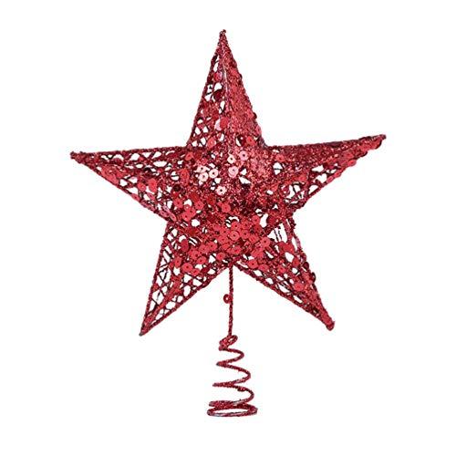 Homoyoyo Topper de La Estrella del Árbol de Navidad Adornos del Árbol de Navidad Estrella Superior del Árbol de Navidad para Decoraciones Navideñas
