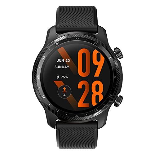 Ticwatch Pro 3 Ultra GPS Smartwatch Qualcomm SDW4100 y Mobvoi Sistema de procesador Dual Wear OS Smart Watch para Hombres Oxígeno en Sangre Detección IHB AFiB Evaluación de Fatiga 3-45 días Batería
