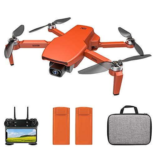 Entweg Drone RC, Sg108 Drone RC con Fotocamera 4K Camera Brushless Drone Doppia Fotocamera 5G WiFi FPV GPS Posizionamento del Flusso Ottico Gesto Foto Video Punto di Interesse Volo Follow Me