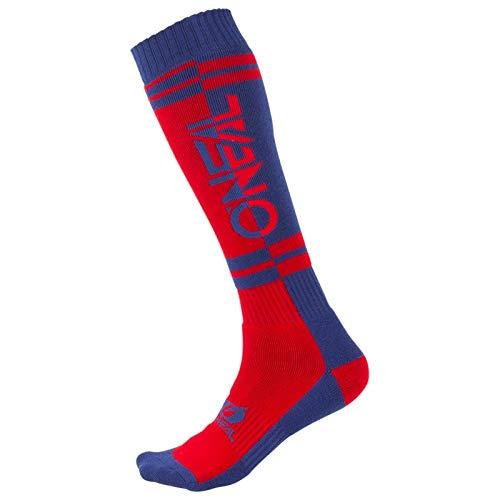 O\'NEAL Pro Twoface MX Socken rot/blau Einheitsgröße 2020 Oneal