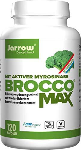 BroccoMax, Brokkoliextrakt mit aktiver Myrosinase, 120 vegane Kapseln, hohe Bioverfügbarkeit, ohne Gentechnik, Jarrow Deutschland