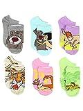 The Jungle Book 6 pack Socks (9-11 Womens (Shoe: 4-10), Jungle Book Blue/Multi)